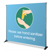 Adjustable Backdrop Frame-Use-Hand-Sanitizer