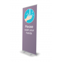 Retractable Banner Stand-Wash Your Hands