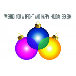 Holiday Greeting Card - Christmas Ornaments
