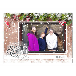 Holiday Postcard-Seasons Greetings in the Frame
