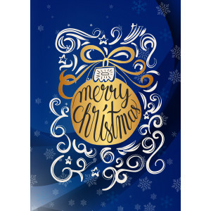 Holiday Greeting Card - Gold Ornament