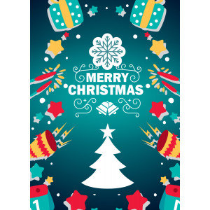Holiday Greeting Card - Announcing a Merry Christmas