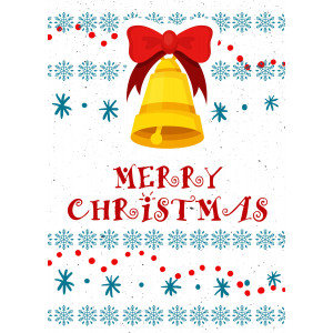 Holiday Greeting Card - Christmas Bell