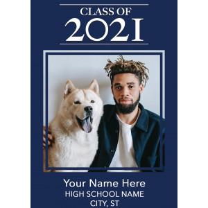 Graduation Announcement Postcard-2021 Graduate